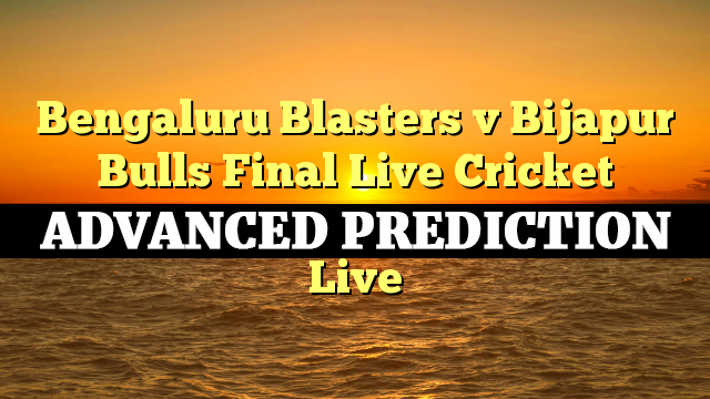 Final MATCH, Bengaluru Blasters vs Bijapur Bulls
