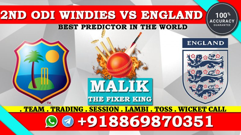 2nd ODI Match Windies vs England
