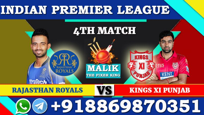 4th Match RR VS KXIP