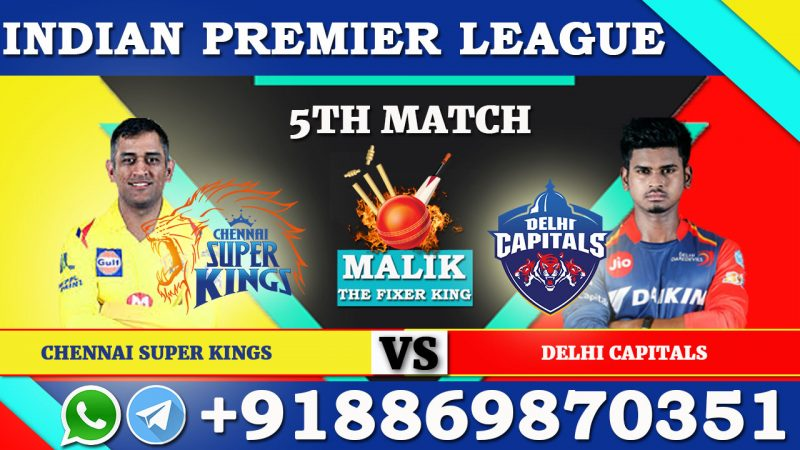5th Match DC VS CSK