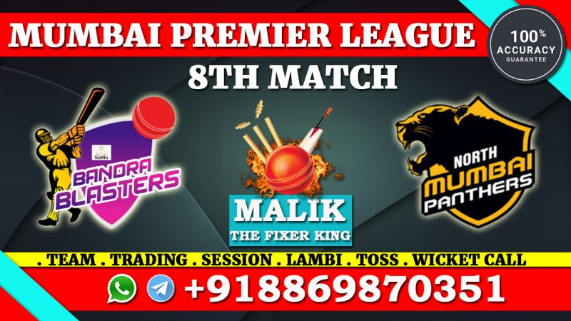 North Mumbai Panthers vs NaMo Bandra Blasters