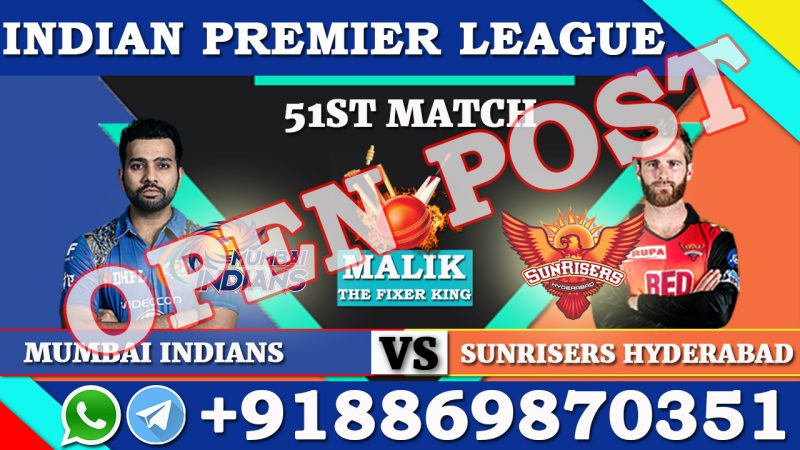 51ST Match MI VS SRH