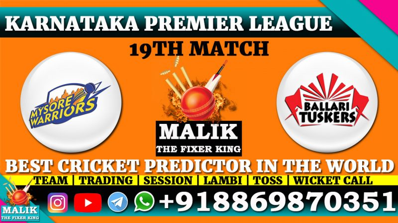 Mysuru Warriors vs Bellary Tuskers