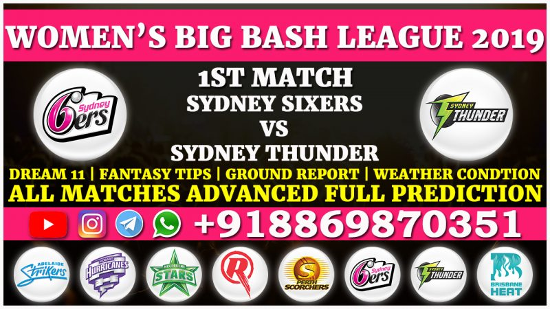 Sydney Sixers Women vs Sydney Thunder Women