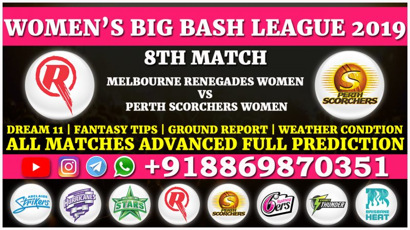 Melbourne Renegades Women vs Perth Scorchers Women