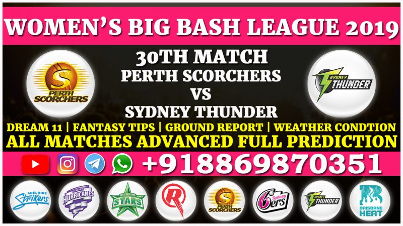 Perth Scorchers Women vs Sydney Thunder Women